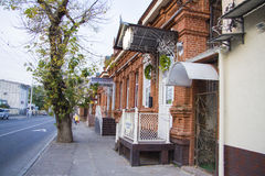 Small shops. Trade shops at Rashpilevskaya  street in Krasnodar, Russia Stock Photo