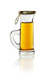A small shot glass of delicious liquor Stock Photos
