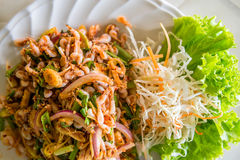 Small shrimp salad Royalty Free Stock Images