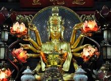 Small shrine devoted to Avalokitesvara Boddhisatva. One Pillar p Stock Photos