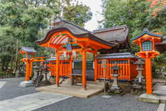 Small shrine at Fushimi Inari Shrine in Kyoto Royalty Free Stock Photography