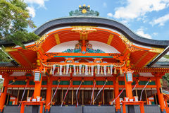 Small shrine at Fushimi Inari Shrine in Kyoto Stock Image
