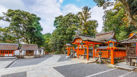 Small shrine at Fushimi Inari-taisha shrine in Kyoto Royalty Free Stock Photo