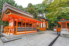 Small shrine at Fushimi Inari-taisha shrine in Kyoto Stock Photos