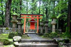 Small shrine at pathway go to Kasuga Shrine Royalty Free Stock Image