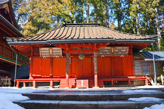 Small Shrine at Rinnoji Temple Nikko Japan. A Small Shrine at Rinnoji Temple Nikko Japan in winter Royalty Free Stock Photography