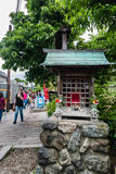 Small shrine at Togetsu-kyo Bridge in Arashiyama district Royalty Free Stock Photography