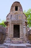 Small shrines and steps to reach the bottom of the reservoir, of the Sun Temple. Modhera village of Mehsana district, Gujarat. India stock photography