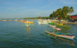 Small harbor of Siargao. Small Siargao harbor in the Philippines Royalty Free Stock Photo
