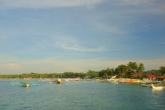 Small harbor of Siargao Royalty Free Stock Photo