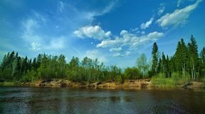 Small Siberin river Royalty Free Stock Photos