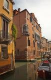 Small Side Canal Bridges Venice Italy Stock Photo
