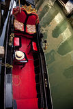 Small Side Canal Gondola Close Up Venice Italy Stock Photography