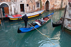 Small side canal - Venice - Italy Stock Photo