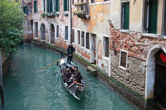 Small side canal in Venice, Italy Royalty Free Stock Images