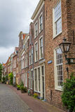 A small side street in Leiden, Holland Royalty Free Stock Photography