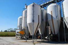 Small silos Stock Image