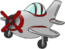 Small Silver Airplane Royalty Free Stock Photo