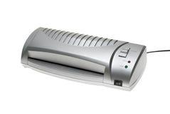 Small silver desktop laminator Stock Photos