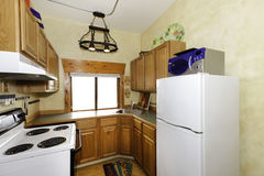 Small simple kitchen room Royalty Free Stock Photography