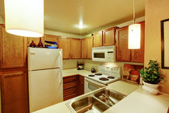 Small simple kitchen room Stock Photo