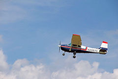 Small single engine plane during take off Berkshires MA Stock Photo