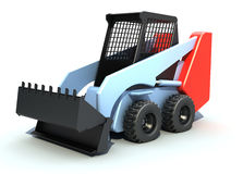 Small sity excavator. 3D rendered image royalty free illustration