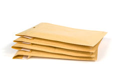 Small size bubble lined shipping or packing envelopes Royalty Free Stock Images