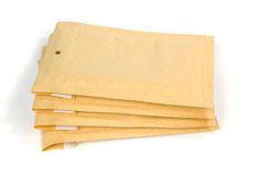 Small size bubble lined shipping or packing envelopes Stock Image