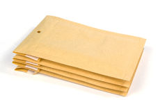 Small size bubble lined shipping or packing envelopes Royalty Free Stock Image