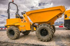 Small size dumper royalty free stock photo