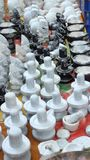 God Statues on sale. Small size of god statues sale on roadside shop in india Stock Photos