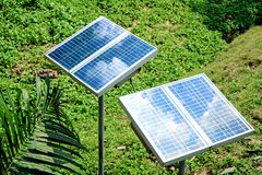 Free Small Size Solar Panels For Clean Energy. Stock Photography - 68853242