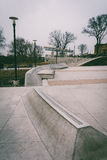 Small skate park at Paine's Park, in Philadelphia, Pennsylvania. Stock Photo