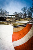 Small skate park at Paine's Park, in Philadelphia, Pennsylvania. Stock Images
