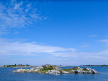 Small skerry in the archipelago Royalty Free Stock Image