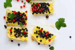 Small slice of summer berry pie Royalty Free Stock Photo