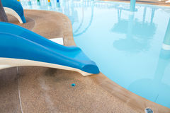 Small slider in public water park. Kids Stock Photography