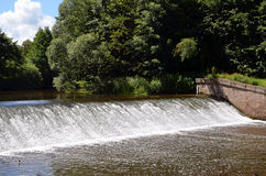 Small sluice river water in nature photography Stock Photo