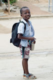 Small smiling schoolboy. Royalty Free Stock Photo
