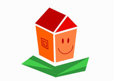 Small smilling house Stock Photography