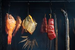 Small smokehouse Stock Images