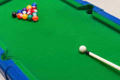 A small snooker toy set Royalty Free Stock Images