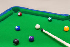 A small snooker toy set Royalty Free Stock Photo