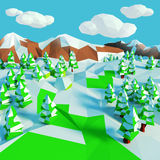 Small snow landscape with fir trees Royalty Free Stock Photos