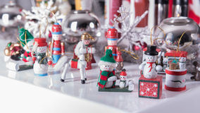 Small snow mans as a christmas decoration Stock Photo