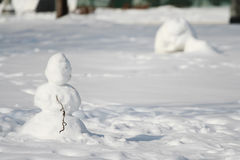 Small snowman Stock Photography