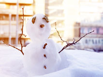 Small snowman Royalty Free Stock Images
