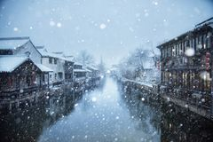A small snowy town Stock Photo