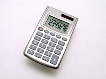 Small Solar Calculator 2. Small Solar Calculator on white with display Royalty Free Stock Photo